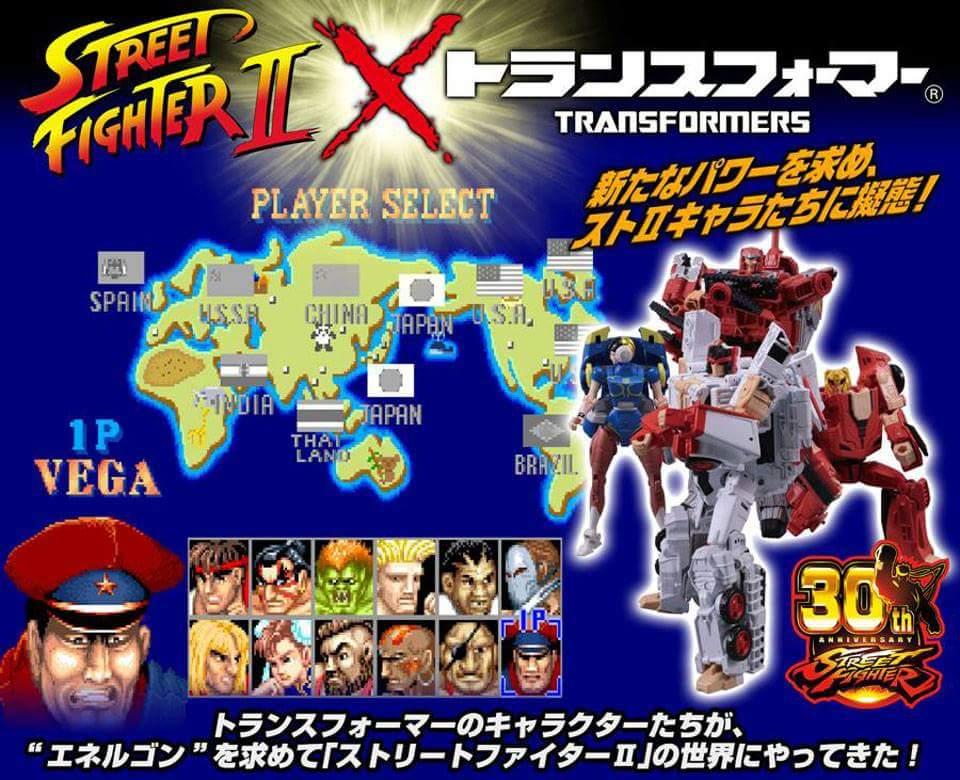 Takara Tomy: Transformers X Street Fighter II