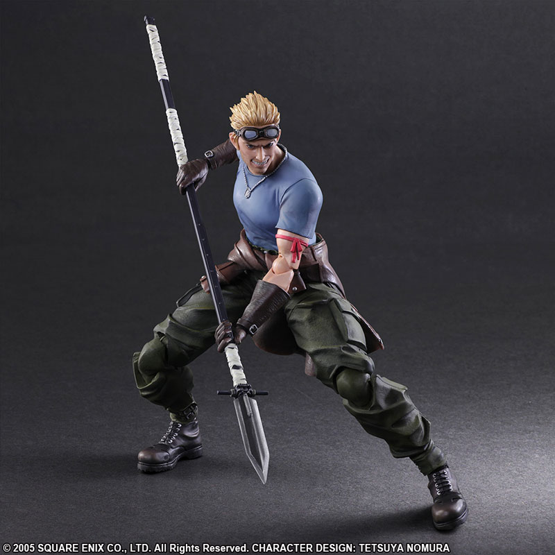 Play Arts Kai – Square Enix – Cid Highwing & Cait Sith – Final Fantasy VII Advent Children