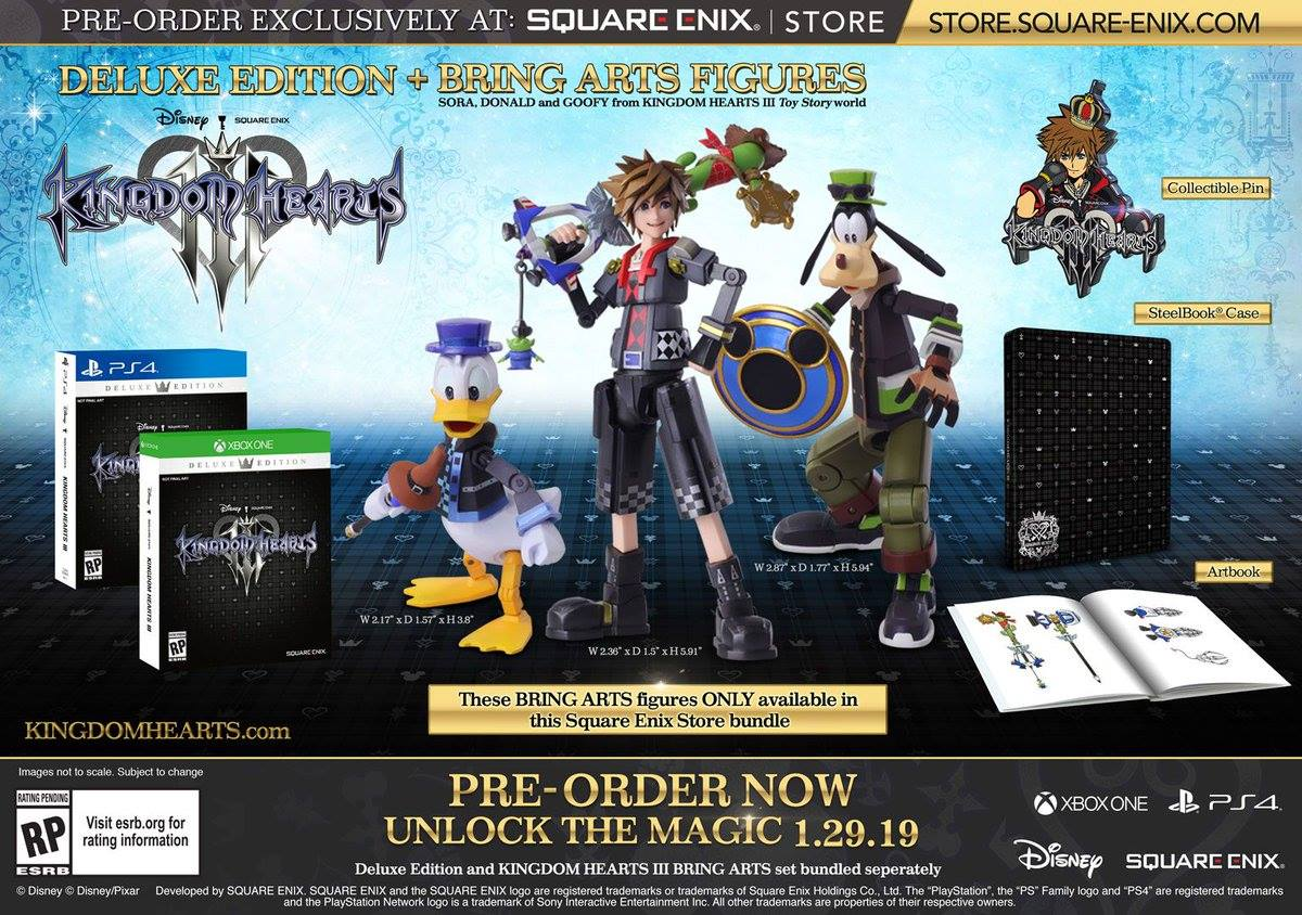 Kingdom Hearts III. Le limited editionDeluxe Edition / Deluxe Edition + Bring Arts Figures.