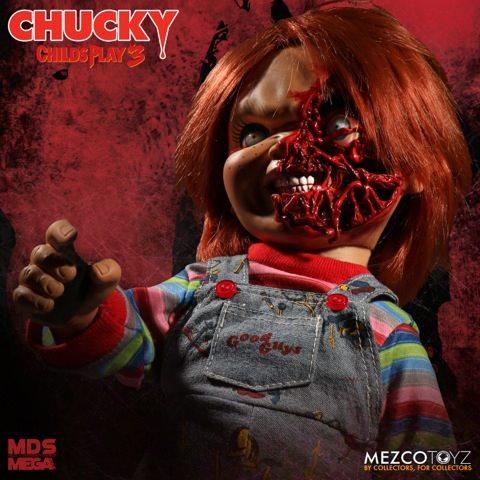 Da Mezco la figure di Chucky (Pizza Face) in versione parlante.