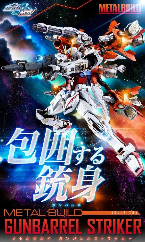 Metal Build Strike Gundam Gunbarrel Striker Pack da Bandai