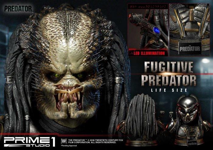"Prime 1 Studio: The Predator Bust Life Size ""Fugitive Predator"""