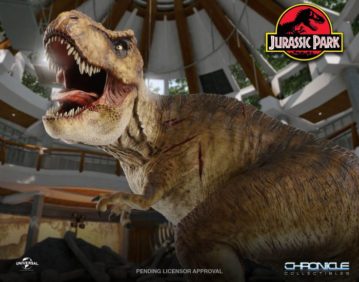 Jurassic Park: T. Rex in the Rotunda Statue di Chronicle Collectibles