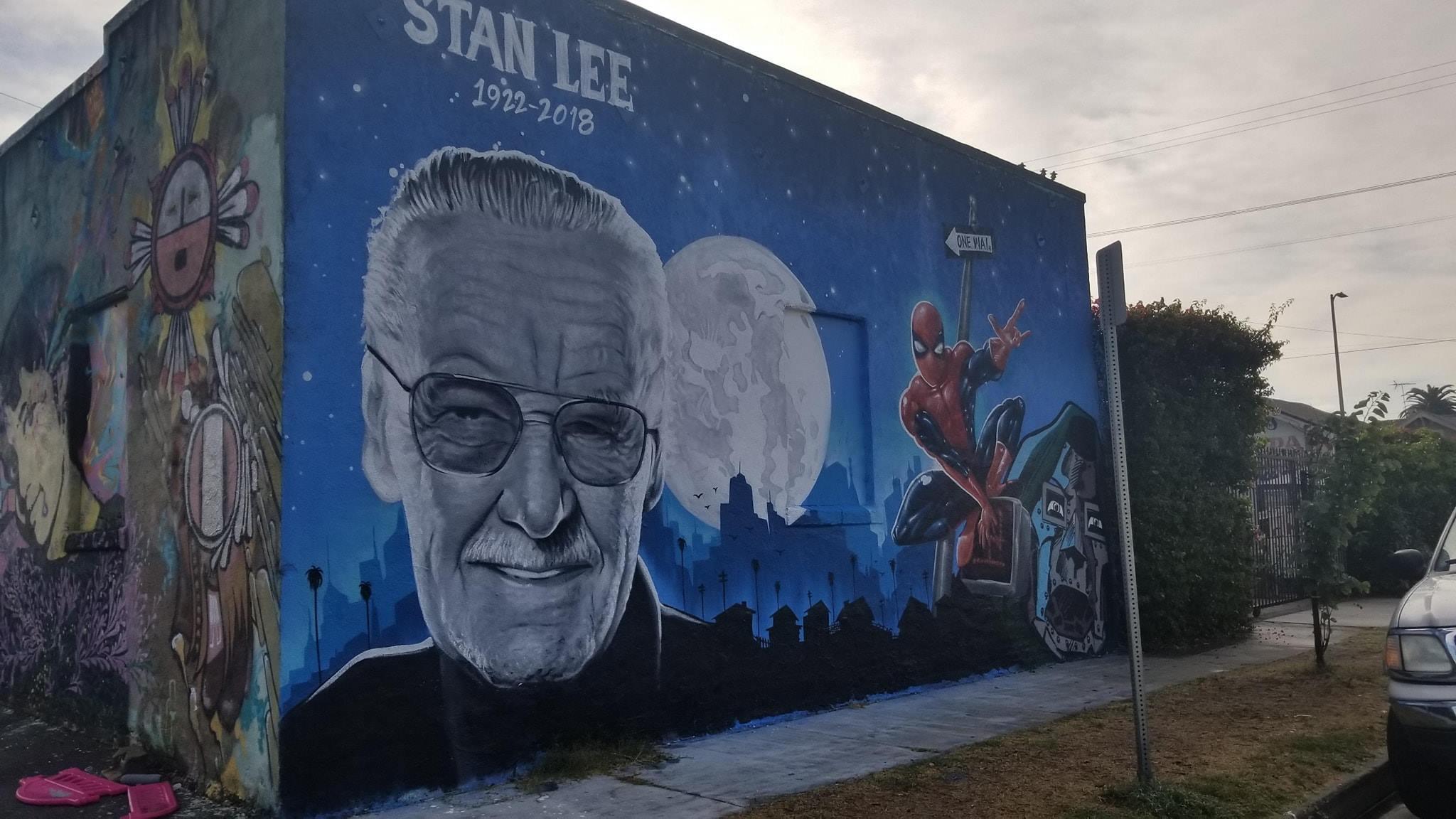 Un magnifico murales dedicato a Stan Lee