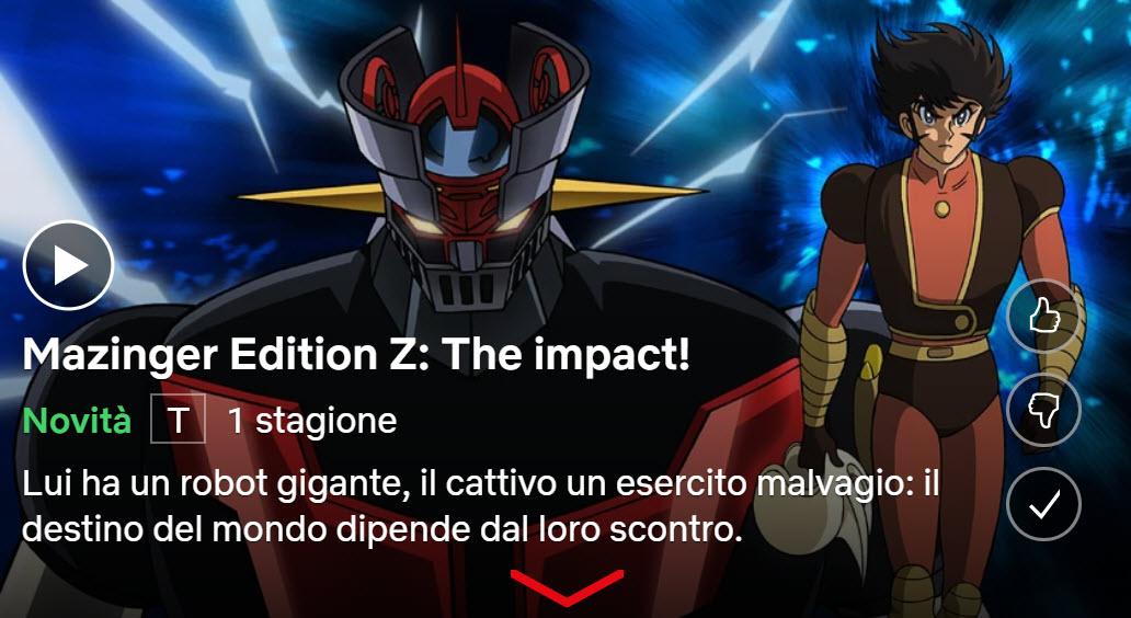 Mazinger Edition Z: The Impact su NETFLIX