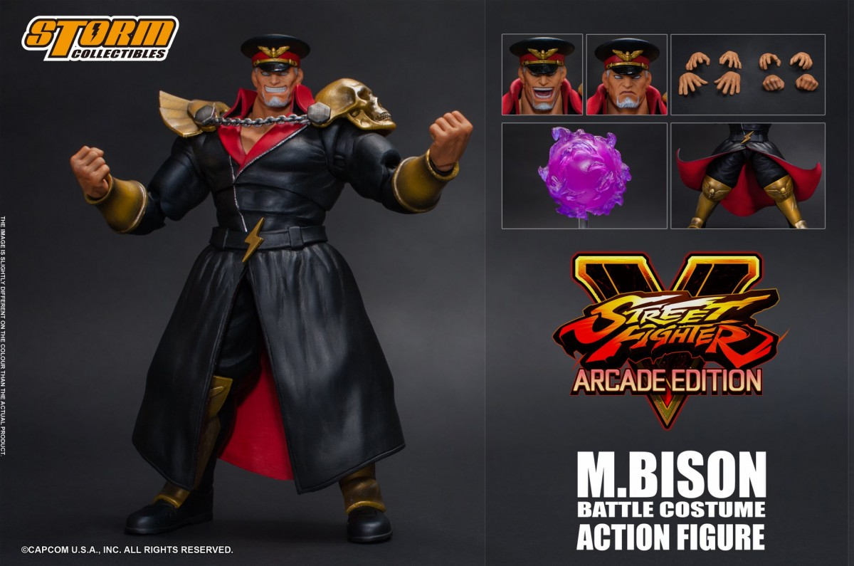 "Storm Collectibles: M. Bison Battle Costume Figure da ""Street Fighter V"""