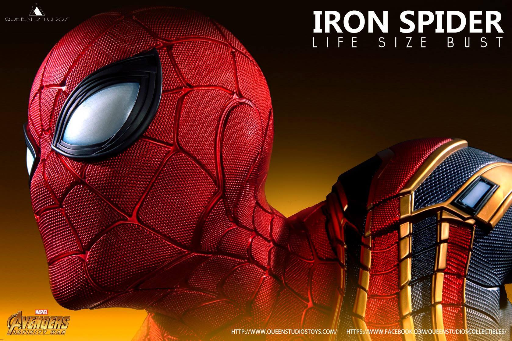 Il busto di Iron Spider della Queen Studios in mostra per la prima volta in Europa a Cartoomics 2019.
