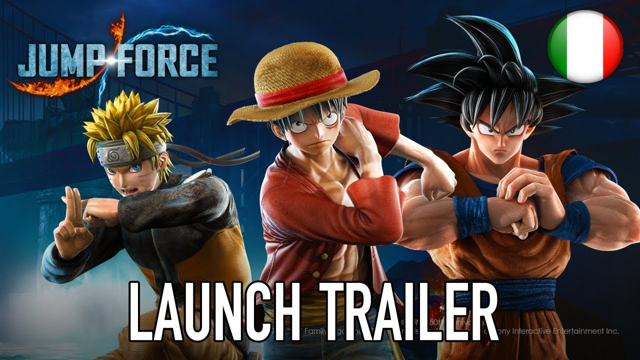 Il trailer di lancio di Jump Force
