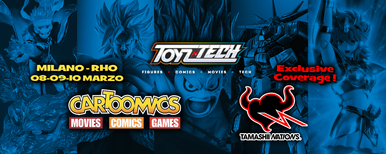 Toyzntech e Tamashii Nations di nuovo a Cartoomics 2019