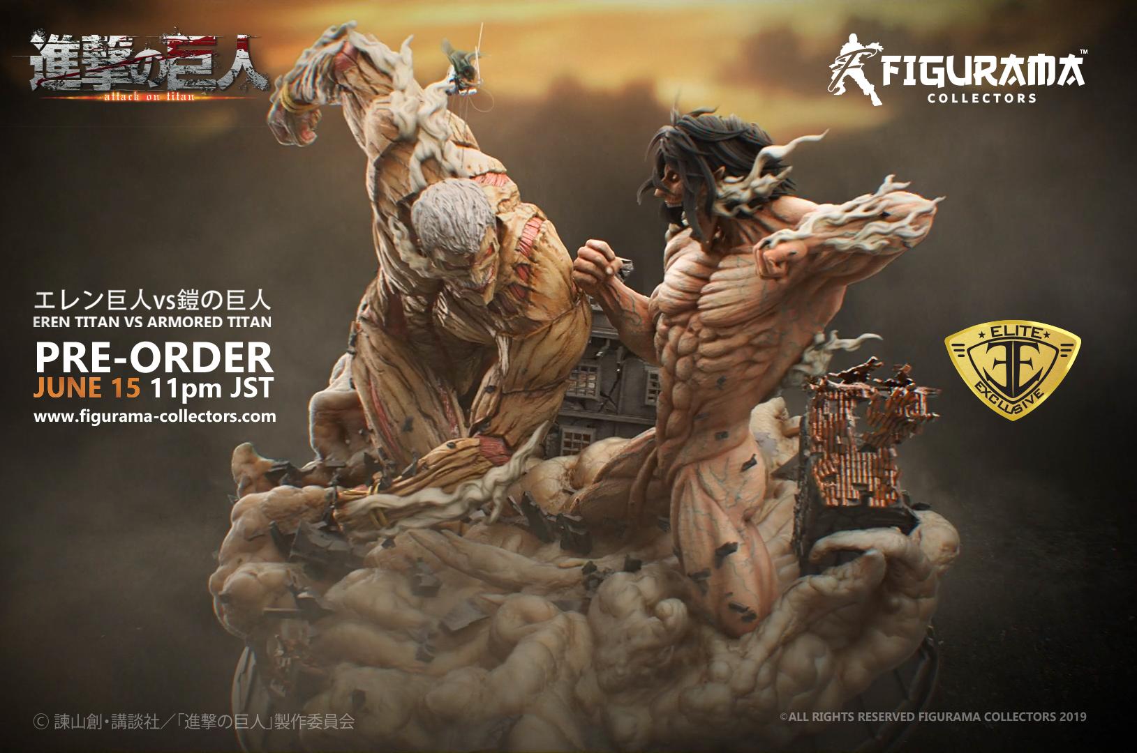 Attack on Titan Eren VS Armored Titan Elite Exclusive Statue