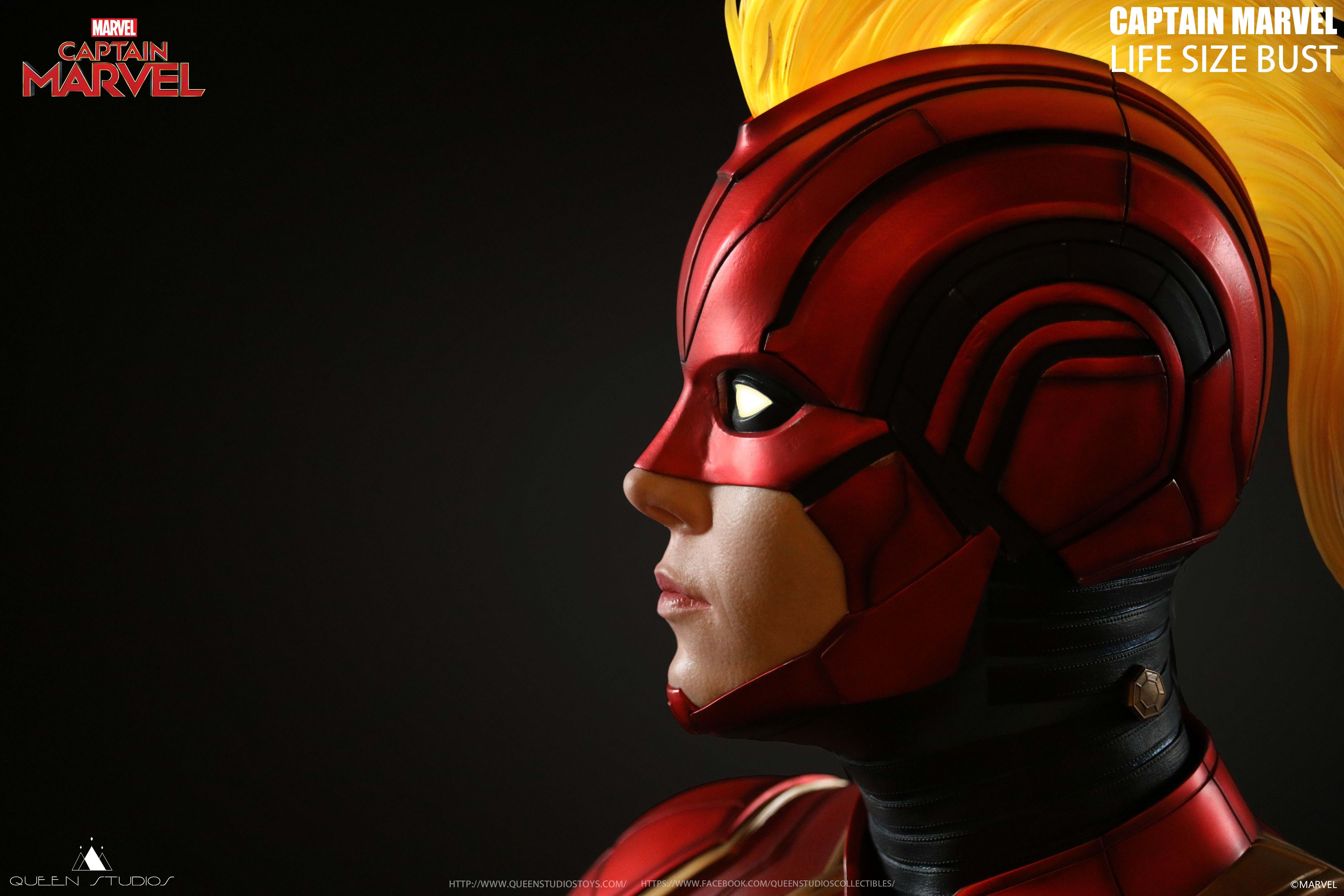 Captain Marvel Life Size Bust dalla Queen Studios
