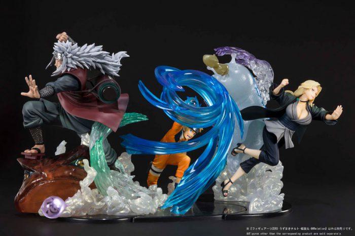 Naruto,Jiraiya e Tsunade Kizuna Relation Figuarts ZERO di Tamashii Nations