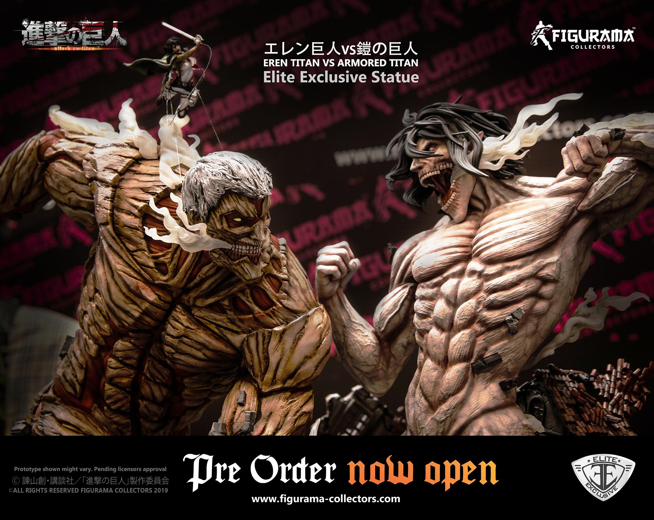 Figurama Collector apre il pre-order di Eren Titan vs Armored Titan