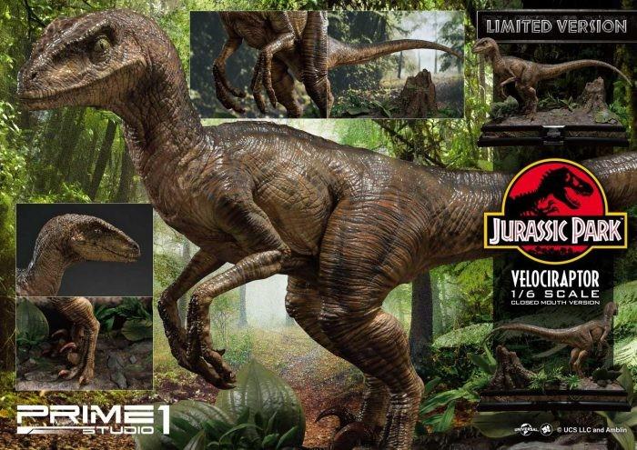 Velociraptor (Jurassic Park) in scala 1/6 dalla Prime 1 Studio
