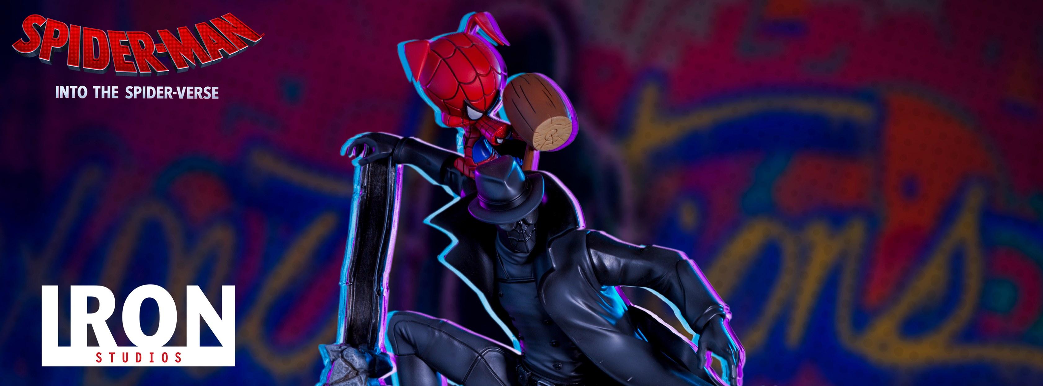 Iron Studios: Noir Spider-Man & Spider-Ham