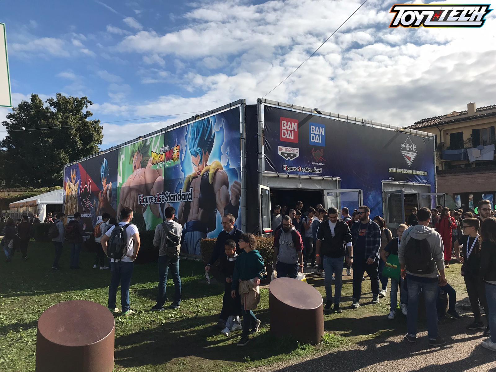 Lucca Comics 2019: Lo stand Bandai
