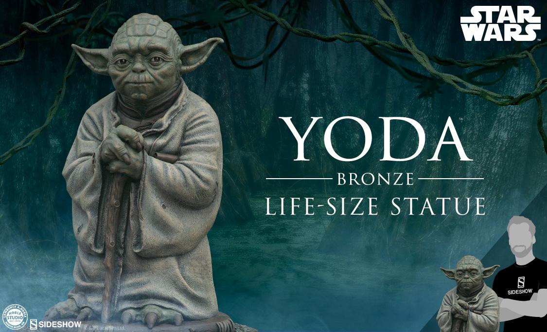 Sideshow: Yoda Bronze Life-Size Statue