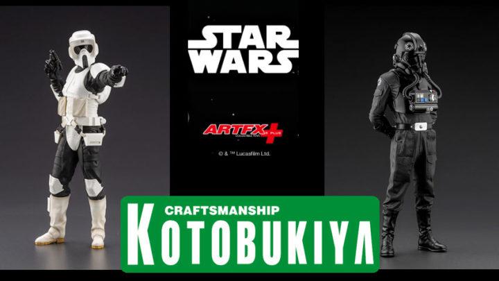Kotobukiya: Scout Trooper e Tie Fighter Pilot Artfx+ Statue