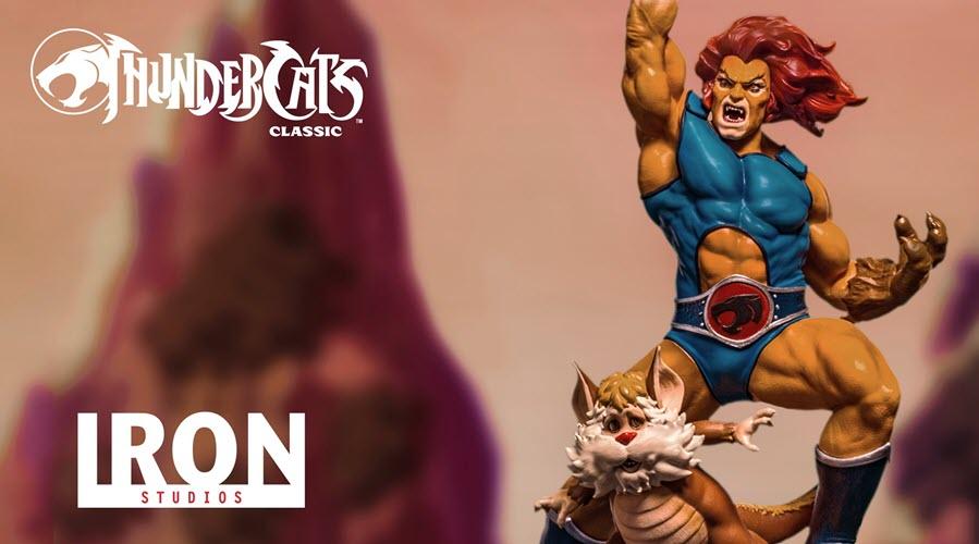 """Iron Studios: Lion-O e Snarf da """"Thundercats"""""""