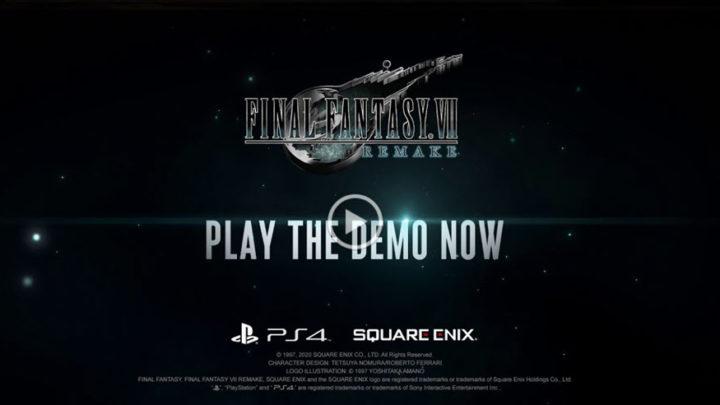 Disponibile la demo giocabile di Final FAntasy VII Remake su PS4