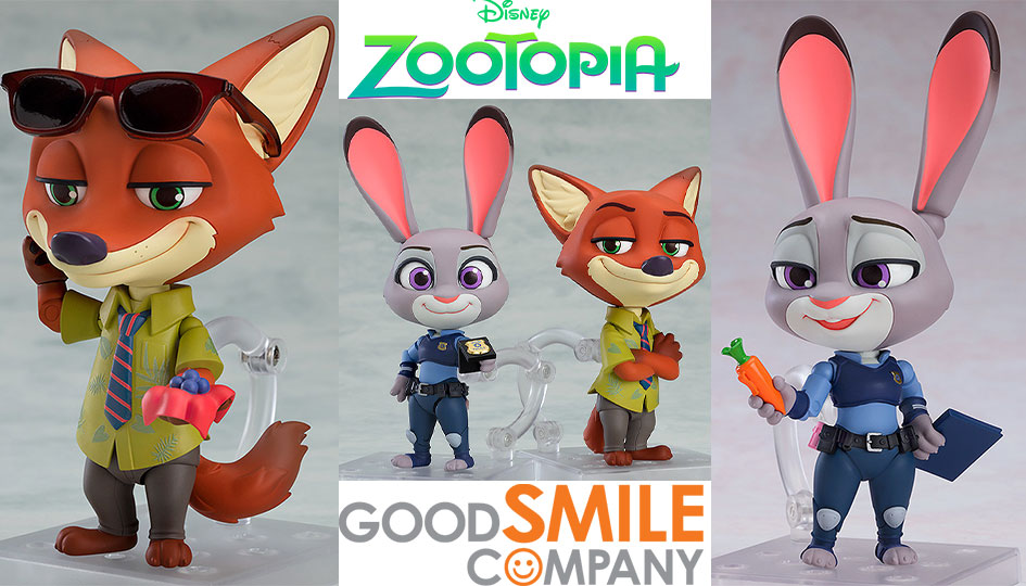 Good Smile Company: Nendoroid Judy Hopps e Nick Wilde