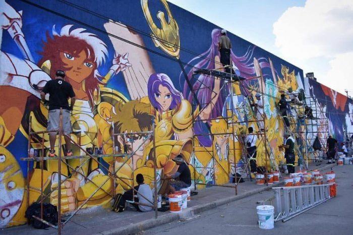 Saint Seiya: murales di ben 80 metri di lunghezza