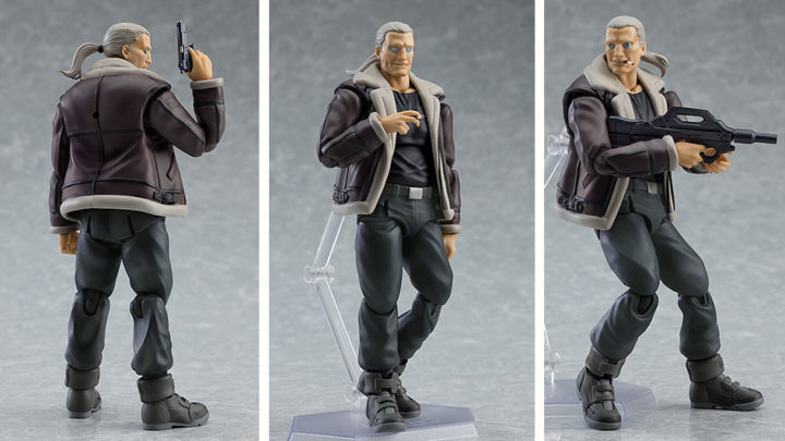 "Batou S.A.C. Version Figma da ""Ghost in the Shell S.A.C."" di Max Factory"