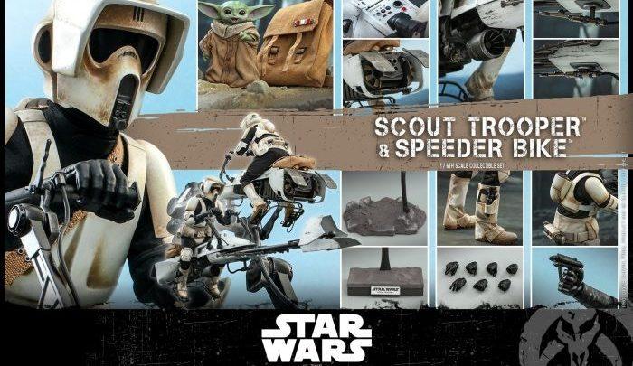 "Hot Toys: Scout Trooper & Speeder Bike set da The Mandalorian"" –"