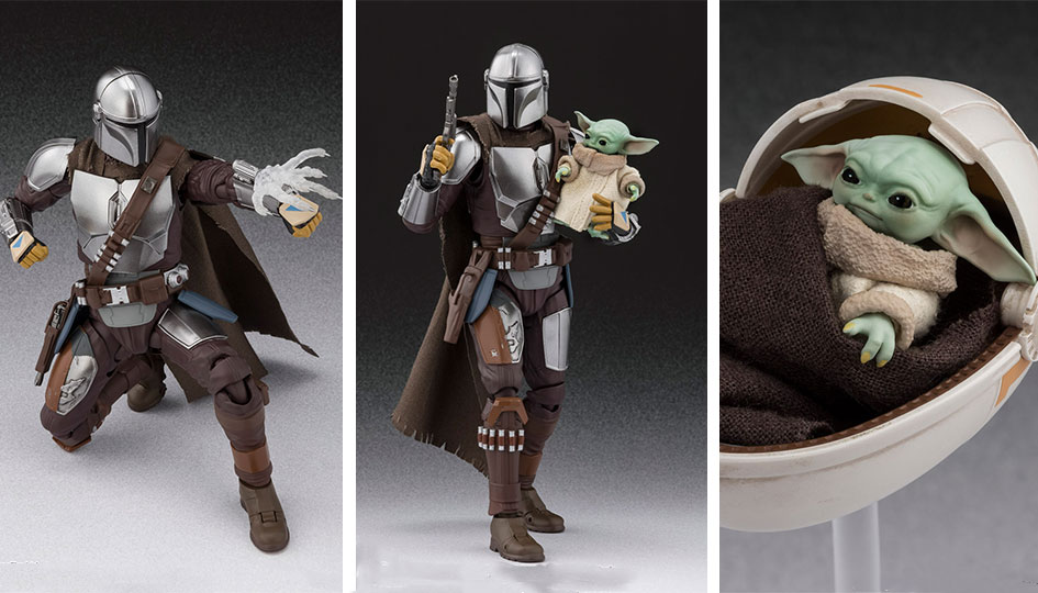 The Mandalorian (Beskar Armor) & The Child S.H.Figuarts di Tamashii Nations