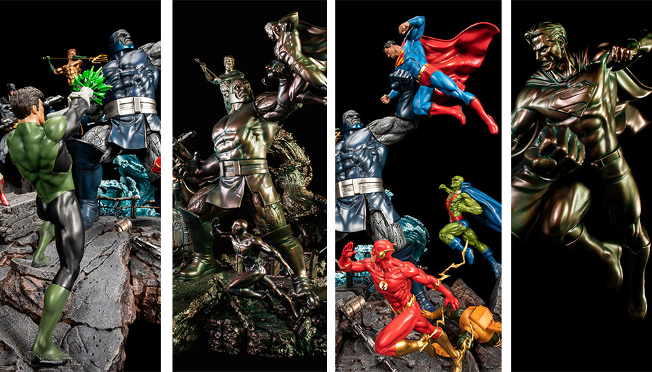 XM Studios: Justice League VS Darkseid 1/6 DC Epic Diorama Ver A/B