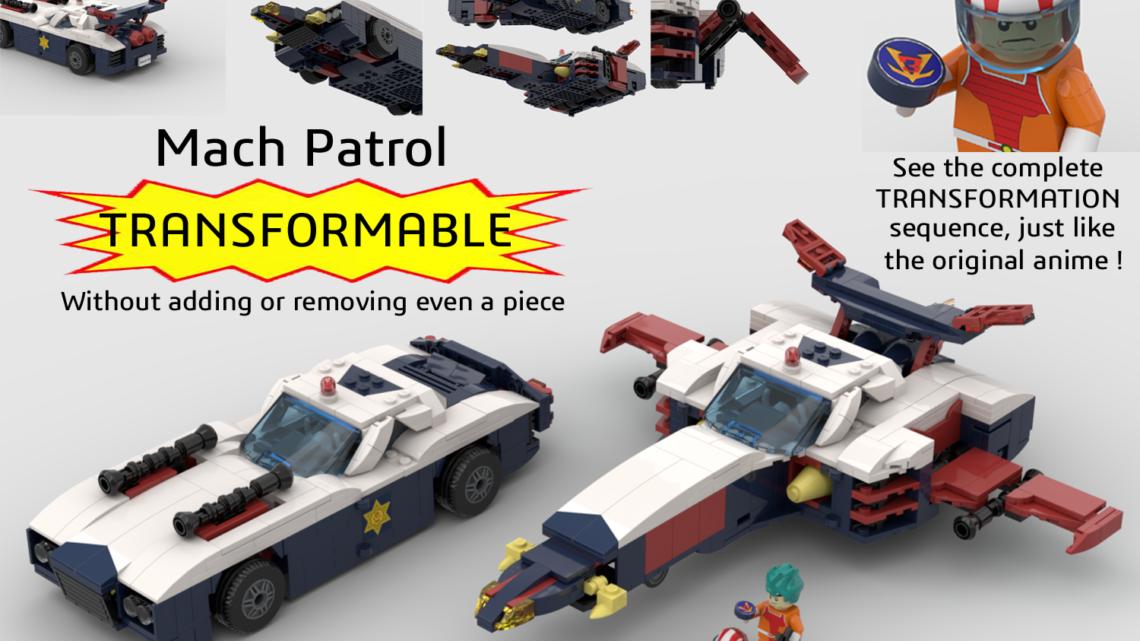 La Mach Patrol trasformabile da Daitarn 3 su LEGO Ideas