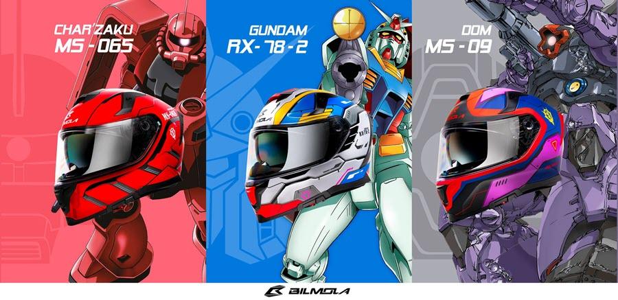 Bilmola presenta i caschi a tema Gundam