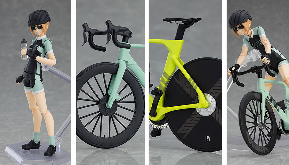 Emily Clycling Jersey ver. & Road Bike PLAMAX Figma Styles di Max Factory