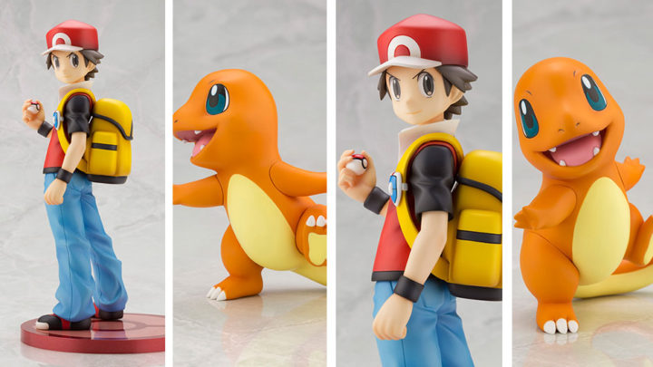 Kotobukiya: Red con Charmander ARTFX J Pokémon Figure Series