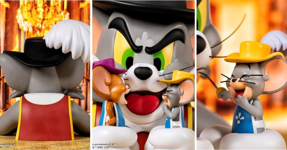 """Il busto di Tom & Jerry """"Musketeers"""" dalla Soap Studio"""
