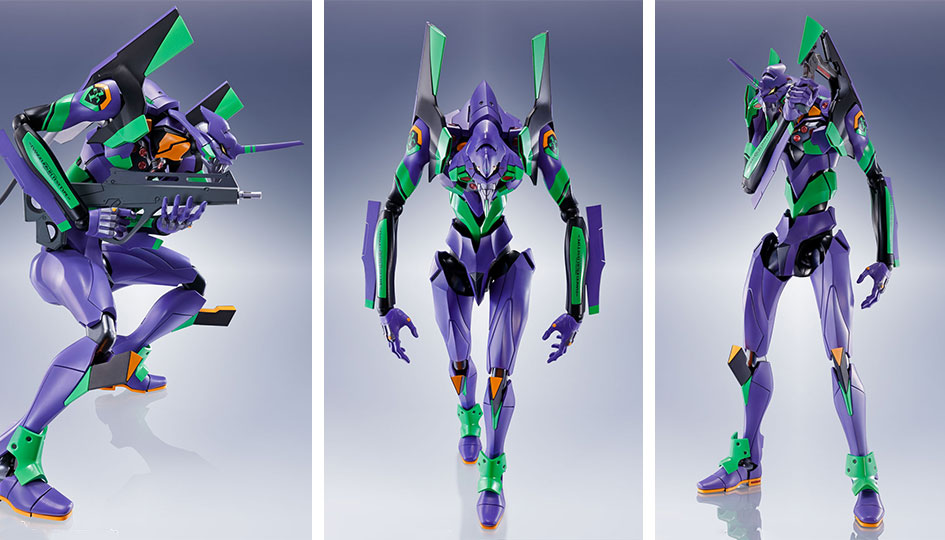 Multipurpose Humanoid Decisive Weapon EVA-01 Test Type DYNACTION di Tamashii Nations