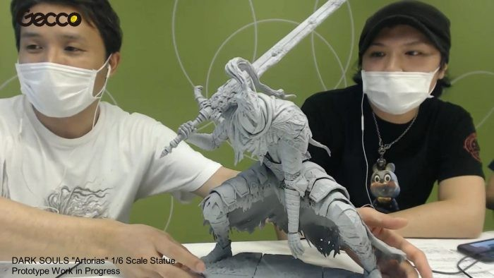 Gecco presenta il prototipo della statua di Artorias the Abysswalker da Dark Souls