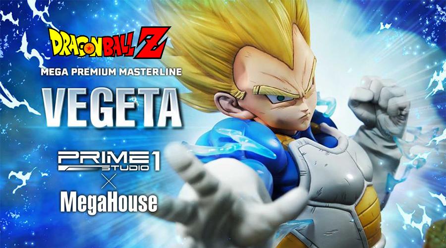 "Prime 1 Studio X MegaHouse: Super Saiyan Vegeta da ""Dragon Ball Z"""
