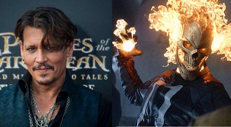 Johnny Depp è interessato al personaggio di Ghost Rider!
