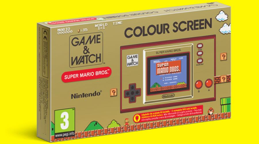 Annunciato per il 35°anniversario il Game & Watch di Super Mario