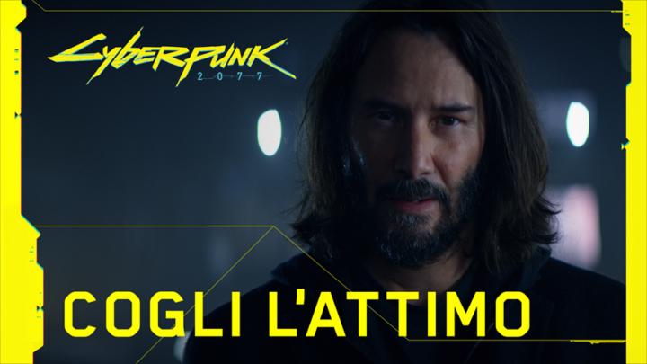 """""""Cogli l'attimo"""" il nuovo spot con Keanu Reeves di Cyberpunk 2077"""