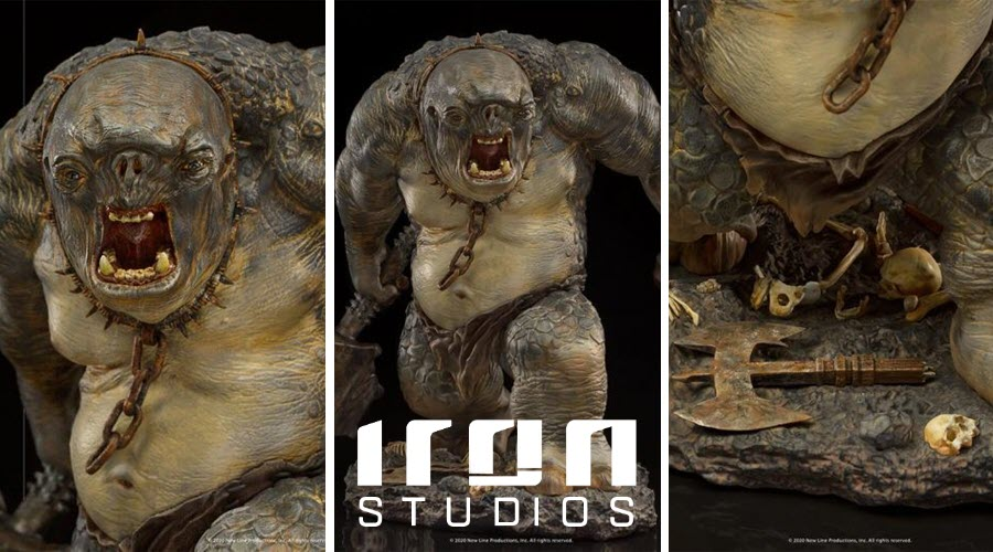 Iron Studios: Cave Troll Deluxe BDS Art Scale 1/10 – The Lord of the Rings