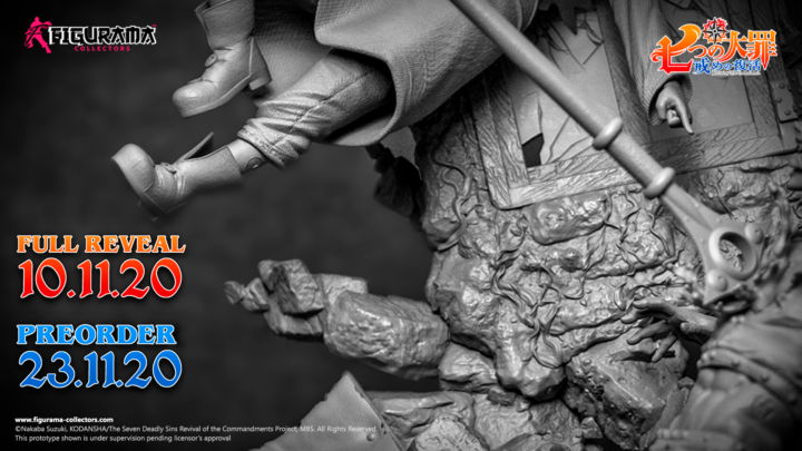 Figurama Collectors mostra il teaser della statua da The Seven Deadly Sins: Ban e King