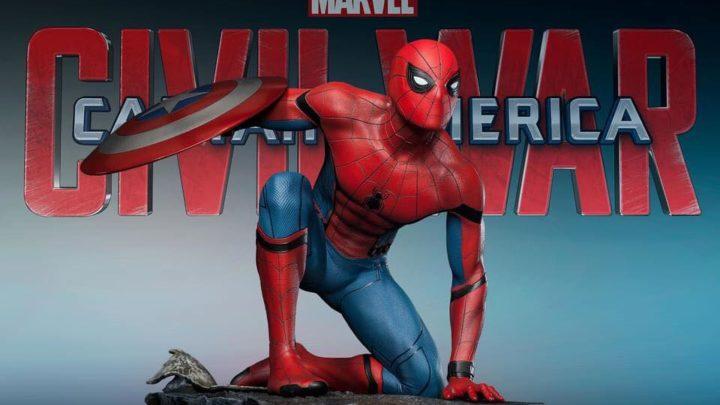 """Queen Studios mostra le prime immagini ufficiali della statua di Spider-Man da """"Captain America: Civil War"""""""
