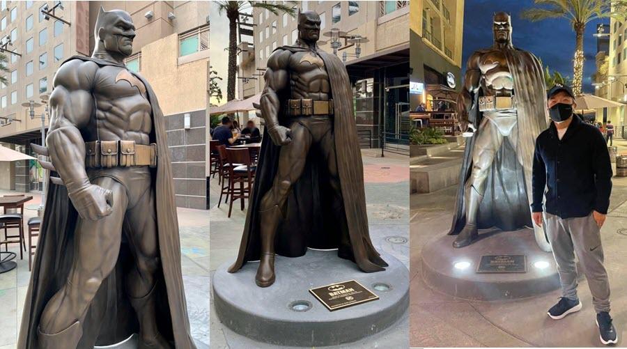 Una statua di Batman a Burbank in California!