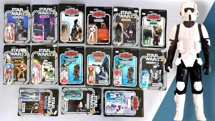 Una coppia trova giocattoli di Star Wars per 400.000£ in sacchi dell'immondizia.
