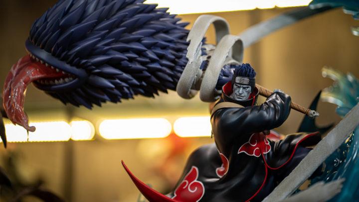 La statua di Kisame da Naruto prodotta dalla Ryu Studio