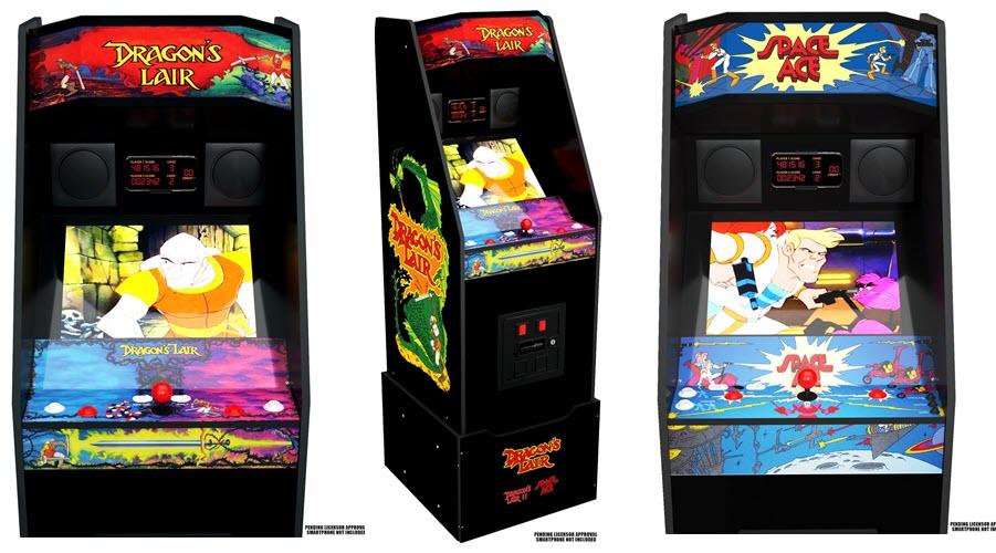 Dragon's Lair e Space Ace Cabinet dalla Arcade1Up