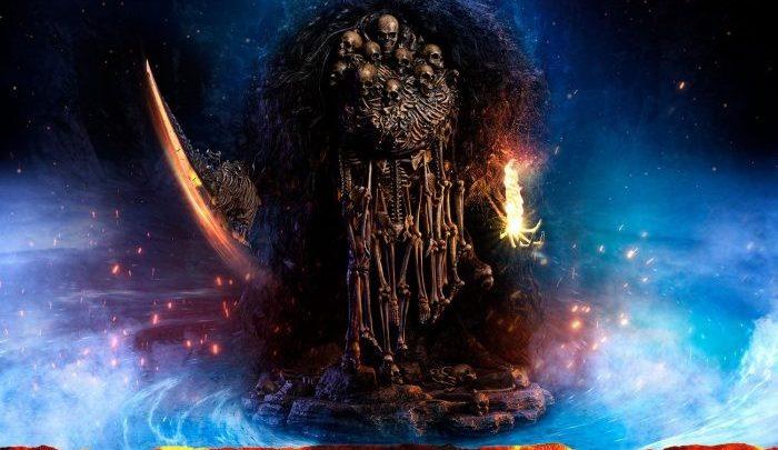 La tenebrosa statua di Nito, il Re Tombale da Dark Souls