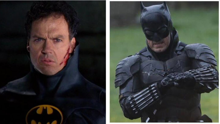 Michael Keaton e Robert Pattinson insieme nei panni di Batman